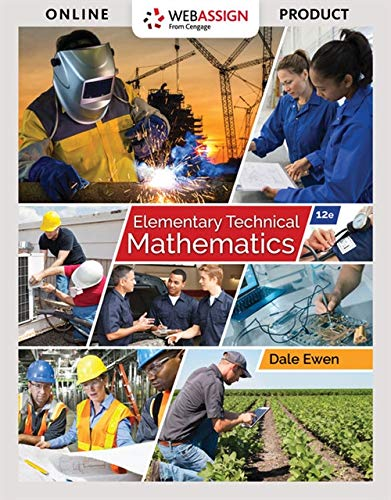 Test Bank For Elementary Technical Mathematics, 12th 12th Edition