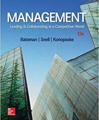 Test Bank for Management: Leading & Collaborating in a Competitive World 13th Edition