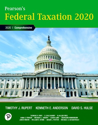 Solution Manual for Pearson's Federal Taxation 2020 Corporations, Partnerships, Estates and Trusts, 33rd Edition, Timothy J. Rupert, Kenneth E. Anderson, ISBN-10: 0135197368, ISBN-13: 9780135197363