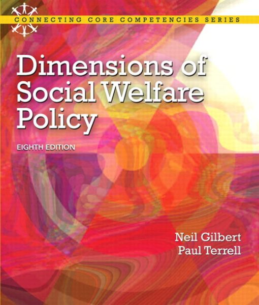 Test Bank for Dimensions of Social Welfare Policy, 8/E 8th Edition Neil Gilbert, Paul Terrell