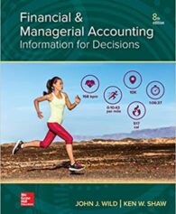 Test Bank for Financial and Managerial Accounting 8th by Wild