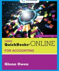 Solution Manual for Using QuickBooks® Online for Accounting, 3rd Edition, Glenn Owen, ISBN-10: 1337911348, ISBN-13: 9781337911344