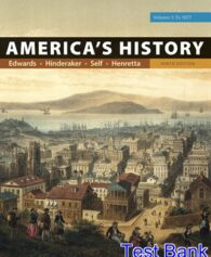 Americas History Volume 1 9th Edition Edwards Test Bank