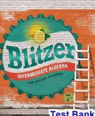 Intermediate Algebra for College Students 7th Edition Blitzer Test Bank