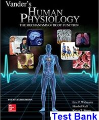 Vanders Human Physiology The Mechanisms of Body Function 14th Edition Widmaier Test Bank