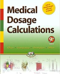 Test Bank for Medical Dosage Calculations 9th Edition