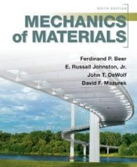 Solution manual for Mechanics of Materials Beer Johnston DeWolf Mazurek 6th edition