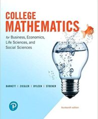 Solution Manual for College Mathematics for Business, Economics, Life Sciences, and Social Sciences 14th by Barnett