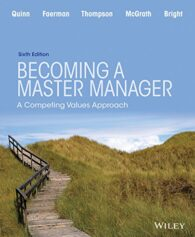 Test Bank For Becoming a Master Manager: A Competing Values Approach 6th Edition