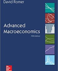 Solution Manual for Advanced Macroeconomics 5th by Romer