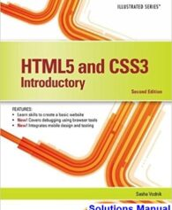 HTML5 and CSS3 Illustrated Introductory 2nd Edition Vodnik Solutions Manual