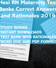 Hesi RN Maternity 2019 Test Banks and Rationale