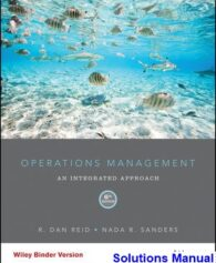 Operations Management 6th Edition Reid Solutions Manual